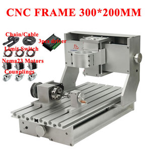 CNC Frame 3020 with Nema23 Motors 4axis for Wood Metal Engraving machine PCB Router with Limit Switch and TB6600 Motor Drivers