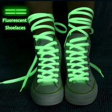 Laces Sneakers Canvas-Shoe Fluorescent Flat Night-Color Glow-In-The-Dark 1-Pair 80/100/120/140cm