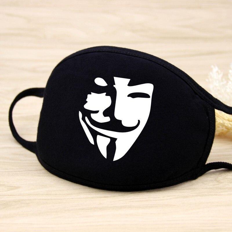 DIHOPE Cotton  Dust Mask Cartoon Expression Teeth Muffle  Chanyeol Face Respirator Anti  Kpop Bear Mouth Mask