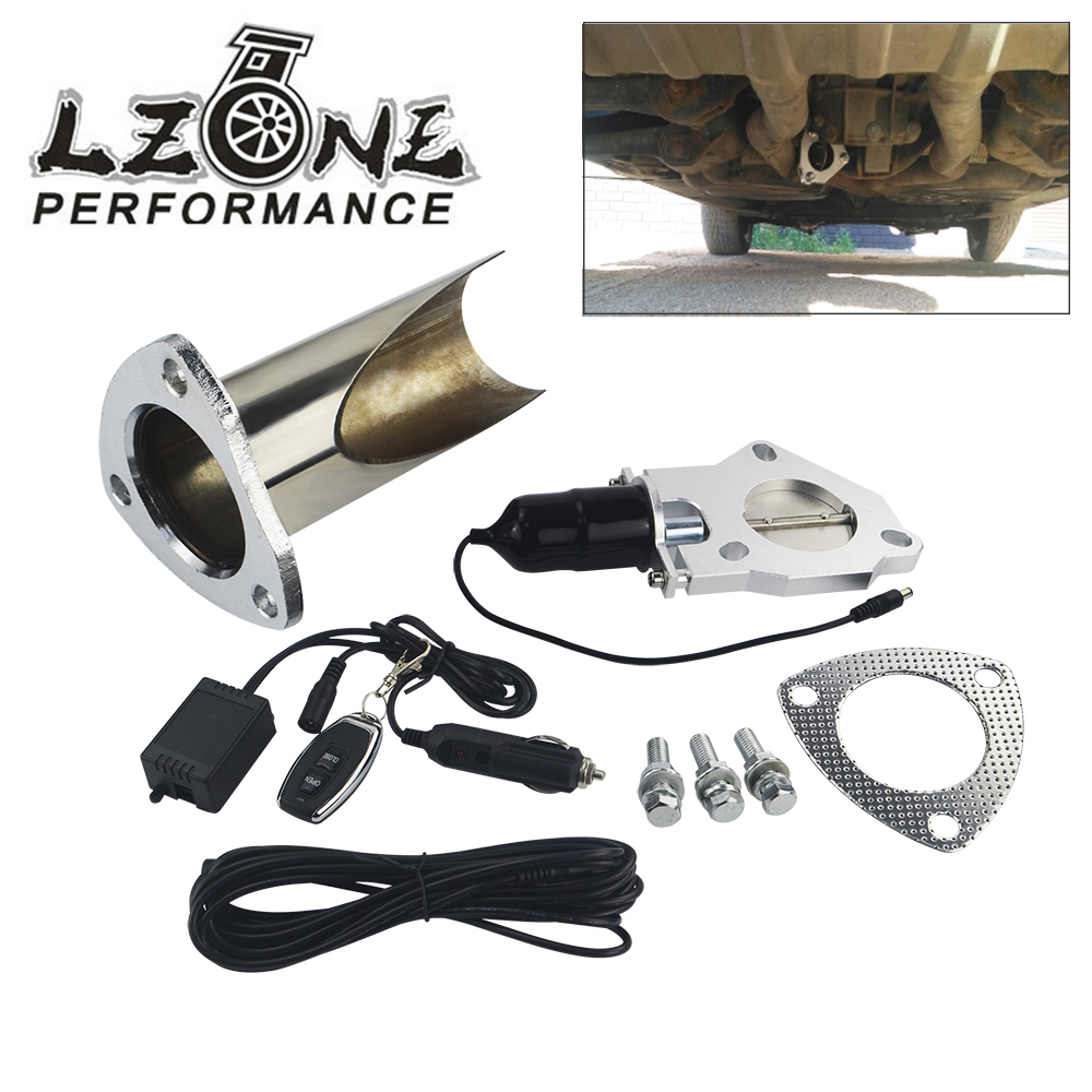 """2.5"""" / 3"""" Electric Stainless Steel Exhaust System Exhaust Cutout CutOut Valve With Remote Control Be Cut Pipe Exhaust CutOut