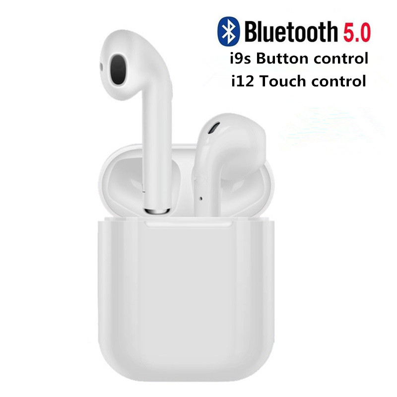 i12 TWS Bluetooth Earphone i9s Mini Headphone Wireless Earbuds Bluetooth Headset with Charging Box for Smart Phone Auriculars