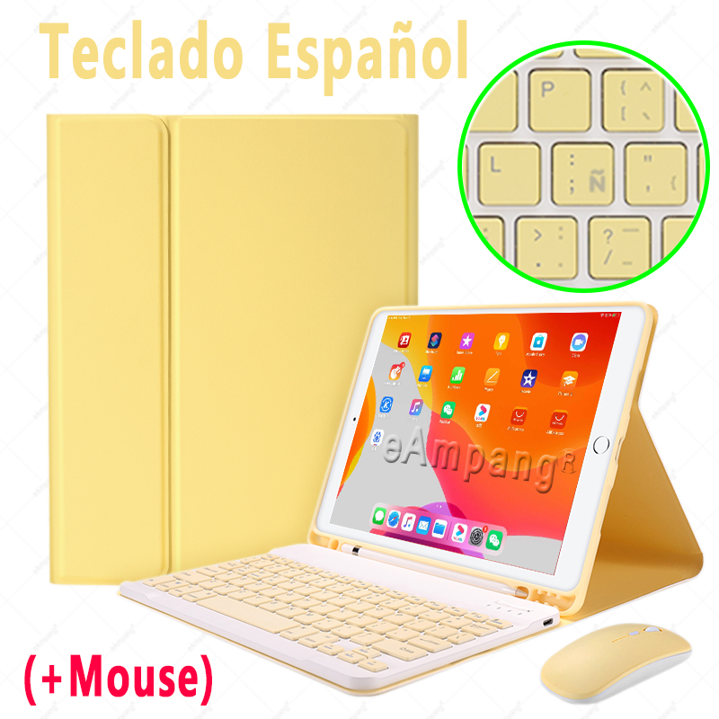 Spanish with Mouse MULTI Keyboard Case With Wireless Mouse For iPad Air 4 10 9 2020 4th Generation A2324 A2072