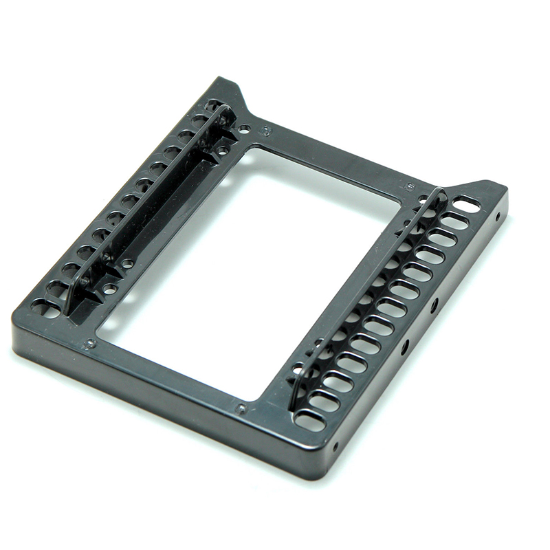 "Adapter 2.5/"" to 3.5/"" hard drive plastic bracket hdd holder mounting ssd black ES"