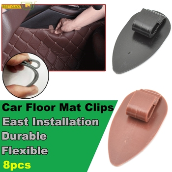 8x Universal Car Floor Mat Anti-Slip Clips Holders Auto Carpet Fixing Grips Clamps Fastener Durable Car Accessories image