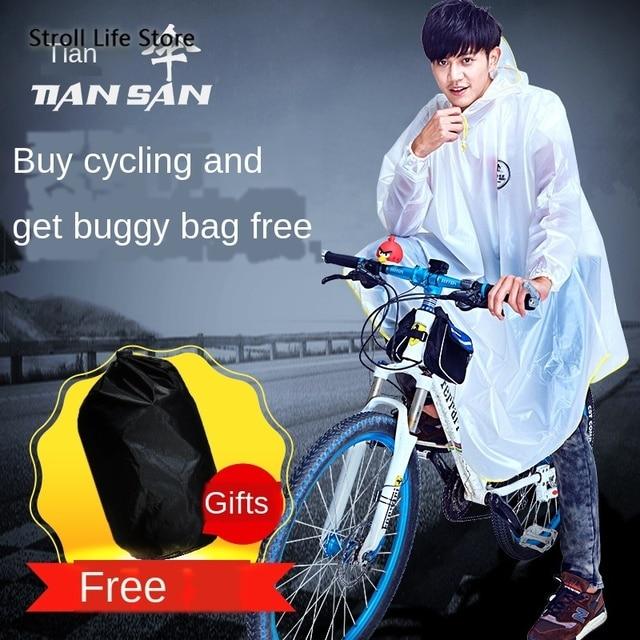 Mountain Biking Poncho Transparent Raincoat Women Plastic Suit Rain Coat Adults Yellow Waterproof Suit Bicycle Rainwear Gift 3