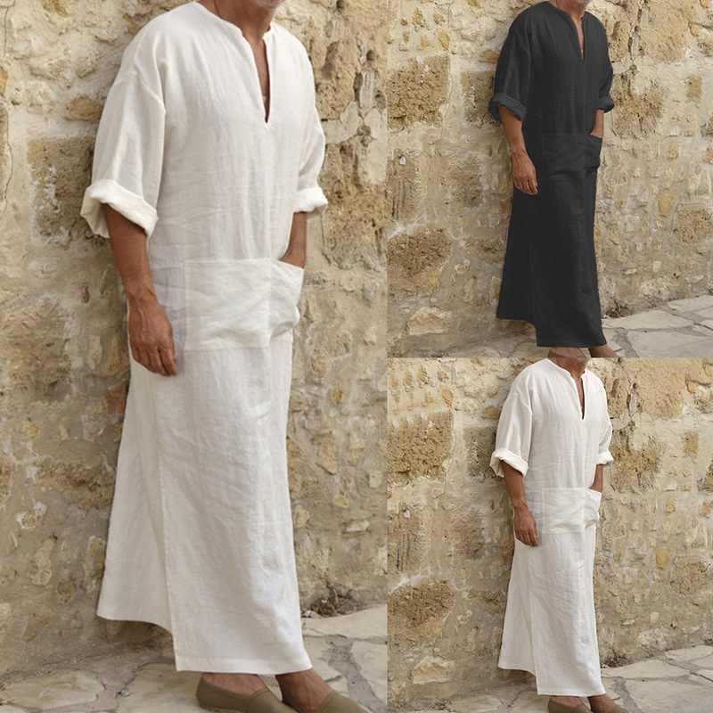 シュージン新しい男性ドレスヴィンテージドレスカフタン elbise 服服、伝統的なメンズエスニックローブの長袖ルーズ