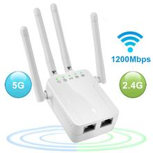 Wifi Repeater Range-Extender-Booster Ethernet-Port Dual-Band Signal 4-Antennas 1200mbps