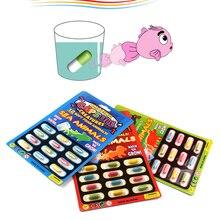 12 шт., увеличивающая поглощение воды, различные надувные капсулы, развивающая игрушка, красочная головоломка, креативные детские игрушки
