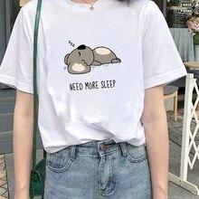 Милая Летняя женская футболка с графическим принтом в стиле