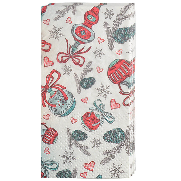 3ply Paper Towel Colorful Printed Paper Towel Christmas Toilet Paper Kleenex Pine Nuts Handkerchief Paper Rolling Paper Towel