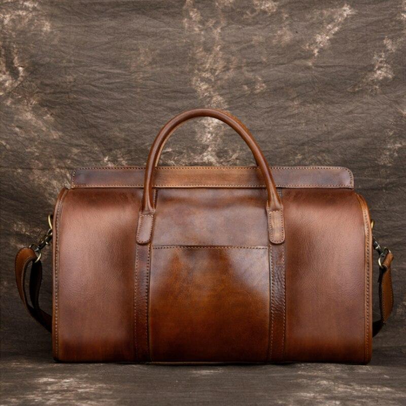MAHEU Luxury Fashion Woman Travel Bag Female Duffle Handbags Lady Weekender Bags Genuine Leather Bag For Airplane Flights Female