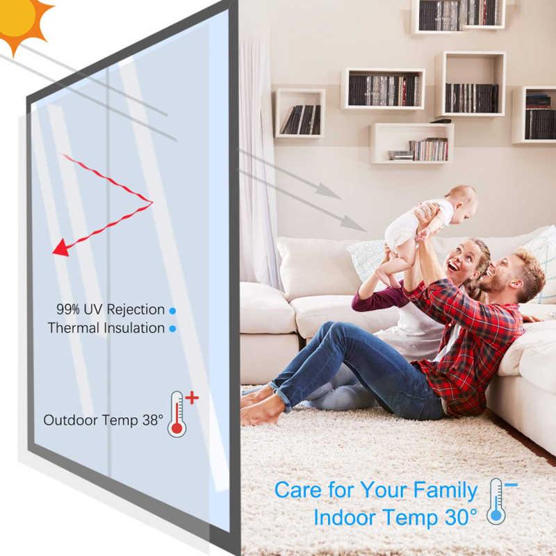 40/50/60/70/80/90*500 ซม.กระจกฉนวนกันความร้อนพลังงานแสงอาทิตย์หน้าต่างฟิล์มสติกเกอร์ UV สะท้อนแสงความเป็นส่วนตัวตกแต่งสำหรับแก้ว