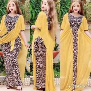 Abaya Dubai Turkey Arabic Caftan Muslim Fashion Leopard Dress American Clothing Dresses Abayas For Women Robe Islam Clothing