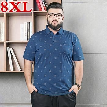 2020  plus size 8XL 7XL 6XL high quality fashion black polo shirts men brand clothing short sleeve Polo male casual Polo shirts