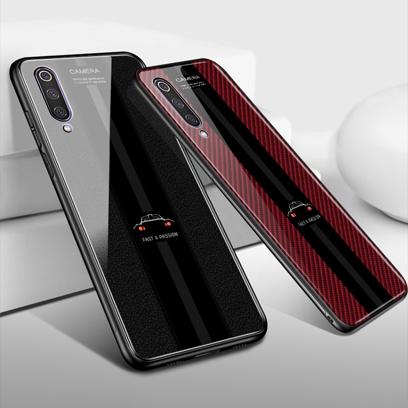 Porsche Tempered Glass Phone <font><b>Case</b></font> for Xiaomi Mi9 Mi9 <font><b>se</b></font> <font><b>Mi8</b></font> <font><b>Mi8</b></font> <font><b>se</b></font> Mi A2 A3 Lite <font><b>Case</b></font> on Redmi 7 7a K20 Note 7 8 Pro Cover Funda image