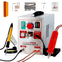 SUNKKO 709A Battery Spot Welder 18650 Precision Pulse Welding Machine With Mobile Soldering Pen Lithium Battery Weld Spot Welder