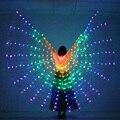 Светодиодный танец крылья бабочки свечение танцы Хэллоуин Цвет люминесцентные лампы, шоу, на Рождество, крылья для танца живота без палочек