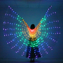 LED Dance Wings Butterfly Glow Dance Halloween Color Fluorescent Show Christmas Belly Dance Wings No Sticks