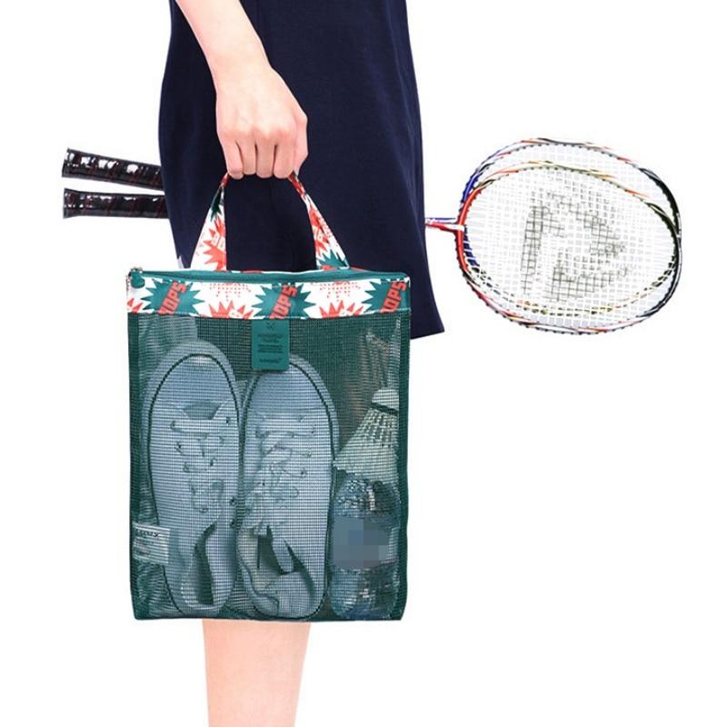 Outdoor Sportswear Handbag Large Capacity Mesh Transparent Bag Men Women Shoe Storage Camping Beach Bags Swimming Gym Swimwear