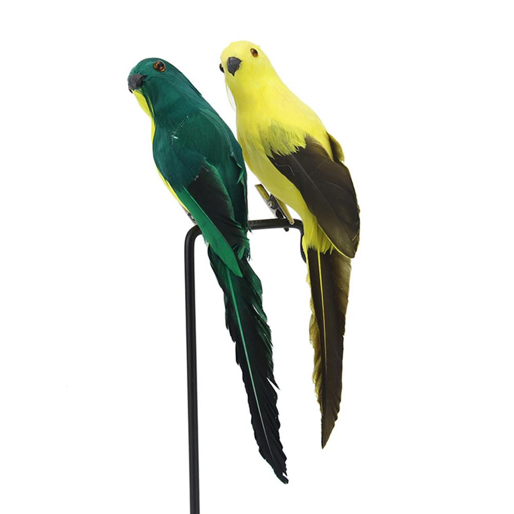 20cm Handmade Simulation Parrot  Garden Decor Creative Feather Lawn Figurine Ornament Animal Bird Garden Bird Prop Decoration