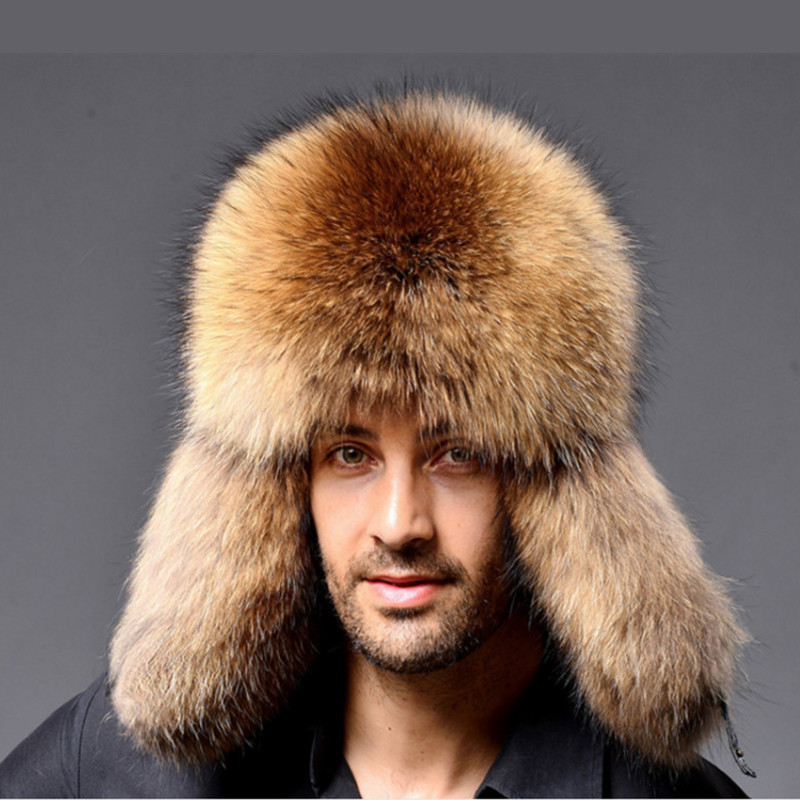 Leather Bomber Leather Hat For Unisex Men Women Winter Hats With Earmuffs Thermal Hat Cossack Trapper Earflap Cap Man Fur Hatska