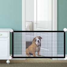 Animais de estimação barreira cercas portátil dobrável malha respirável portão do cão pet separação guarda isolado cerca cães bebê cerca segurança
