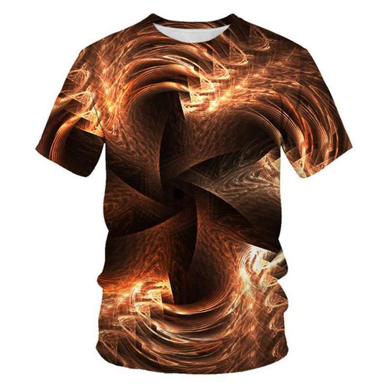 3D גיאומטרי פס אדום דפוס הדפסת גברים 3d חולצה שחור טי מקרית למעלה אנימה Camiseta Streatwear קצר שרוול בד גודל 6xl