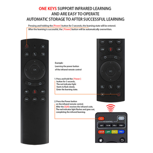 Image 3 - G20 Air Mouse Gyrocope smart Google Voice Sensing 2.4G IR Learning RF Universal Remote Control For Mini PC Android TV Box HK1
