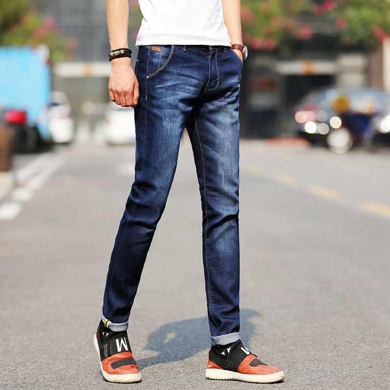 Männer Stretchy Denim Dünne Grün Jeans 2020 Frühling Herbst Marke Klassische Hohe Qualität Mode Jeans
