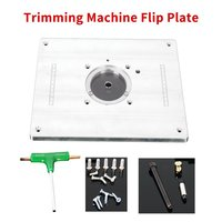 Trimming Machine Flip Plate Router Table Insert Plate Engrave Machine Electric Wood Milling Guide Table Woodworking Work Bench