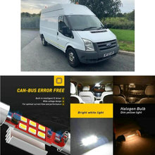 LED Interior Car Lights For Ford transit box bus connect p65 p70 p80 box  car accessories lamp bulb error free
