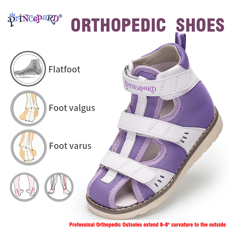 Princepard Children Sandals For Girls Boys Orthopedic Shoes For Arch Support Apring Summer Closed Toe Toddler Kids Sandals