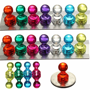 14 Strong Neodymium Noticeboard Skittle Men Pin Magnets Fridge DIY Whiteboard Uses in Office Advertising Education and Other Pur(China)