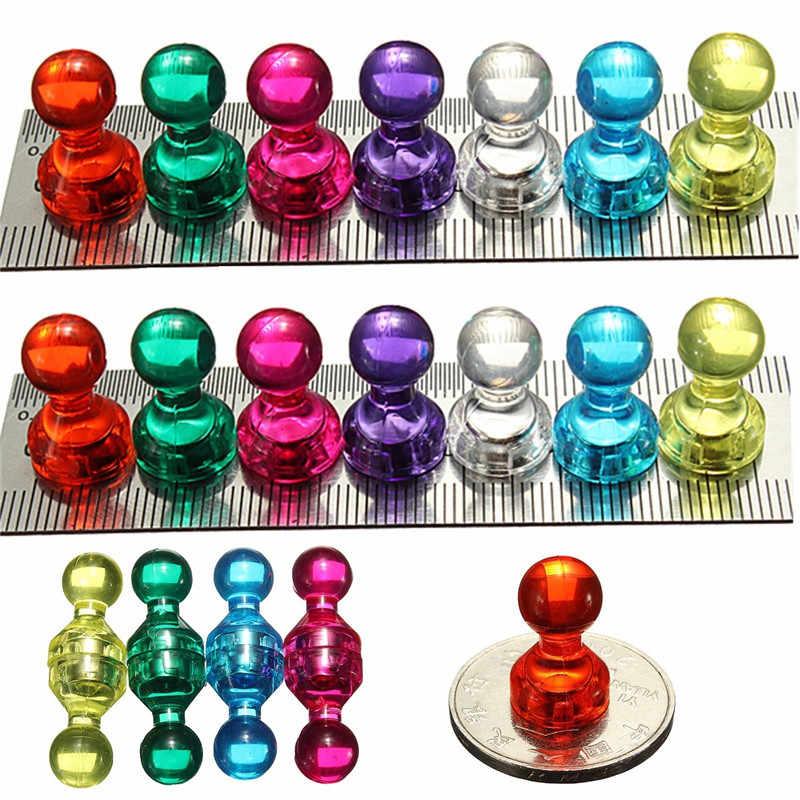 Metal Strong Neodymium Noticeboard Skittle Men Pin Magnets Fridge WhiteboarBIVG