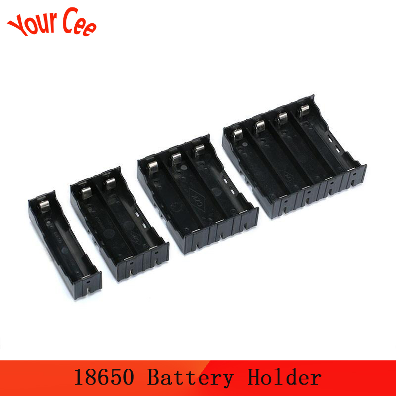 <font><b>18650</b></font> Power Bank Case 1X 2X 3X <font><b>4X</b></font> <font><b>18650</b></font> Battery Holder Storage Box Case holder 1 2 3 4 Slot Battery Container With Hard Pin DIY image