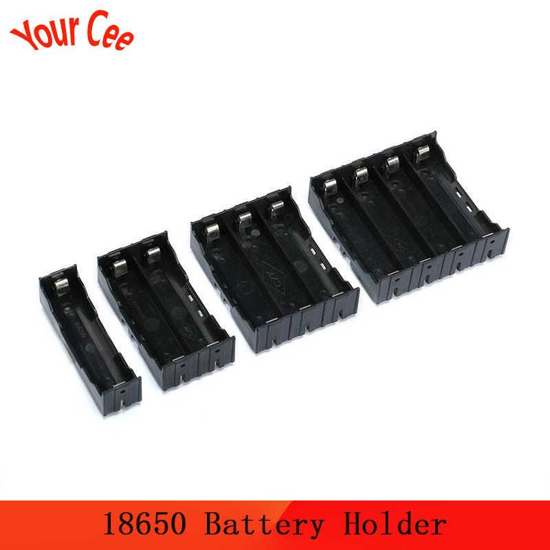 18650 taşınabilir güç kaynağı kılıfı 1X 2X 3X 4X 18650 pil tutucu saklama kutusu kutusu tutucu 1 2 3 4 yuvalı pil konteyner sabit Pin DIY