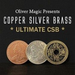 Ultimate CSB 2,0 от Оливера Магия медь серебро латунь транспонирование крупным планом монета фокусы ментализм магия улица Gimmicks