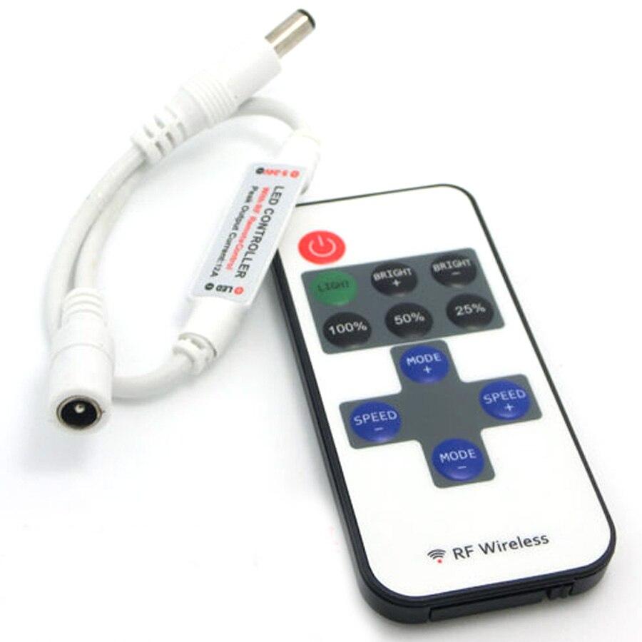 Dimmer 11Key 12V Remote Controller RF LED Control DC 220V For SMD 3528 5050 2835 WS2812 Led Strip Light No Battery Controller