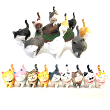 1pcs 2019 Cartoon Kawaii Cat small Bells figure Neko small Cats bell Animal Model Action Figure Collection Toy Doll cheap dalok hakid Soldier Finished Product Finished Goods Unisex One Size Japan Movie TV
