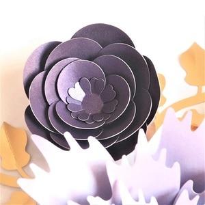 Image 5 - Handgemachte Karton Rose DIY Papier Blumen Blätter Set Für Hochzeit & Event Kulissen Dekorationen Kindergarten Wand Deco Video Tutorials