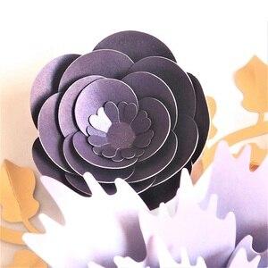 Image 5 - Ręcznie robiony karton różany papier do majsterkowania kwiaty liście zestaw do dekoracji ślubnych i eventowych dekoracje przedszkole dekoracja ścienna samouczki wideo