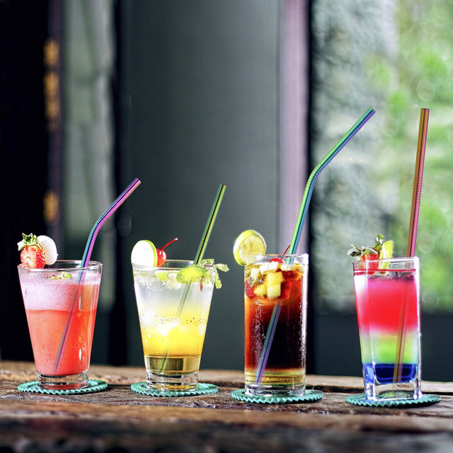 2/4/8Pcs Reusable High Quality Drinking Straw