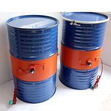 220V 110V 20-200L силиконовой лентой барабанный обогреватель Одеяло масло биодизель Пластик цилиндрическая металлическая бензобак