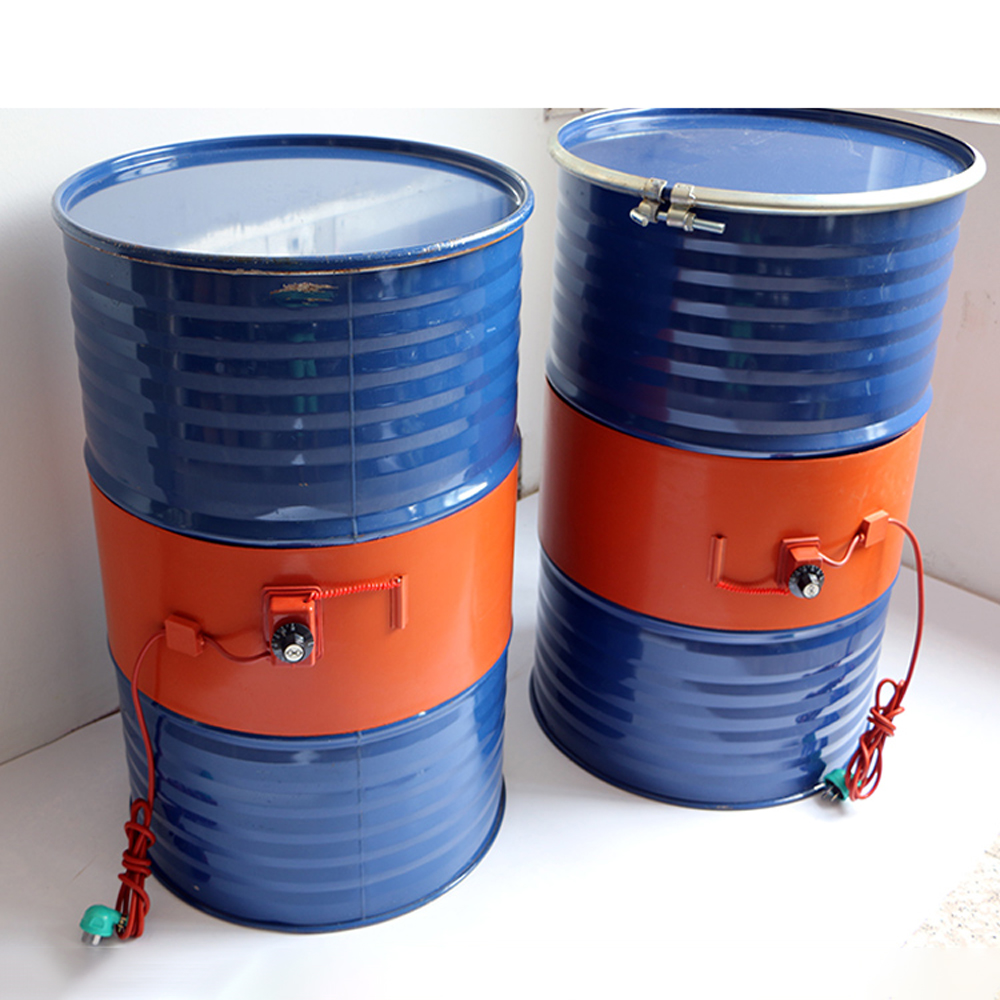 220V 110V 20-200L Silicone Band Drum Heater Blanket Oil Biodiesel Plastic Metal Barrel Gas Tank
