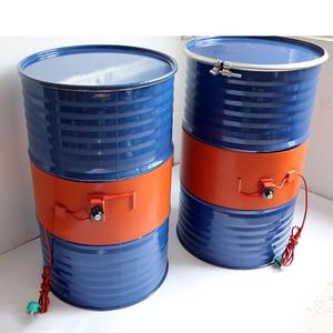 Image 1 - 220V 110V 20 200L Silicone Band Drum Heater Blanket Oil Biodiesel Plastic Metal Barrel Gas Tank
