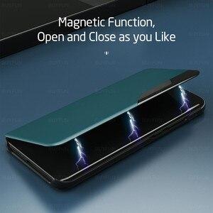 Image 4 - Pu Lederen Smart View Window Flip Covers Case Voor Xiaomi Little Pocophone Poco F3 F 3 3f Pocof3 F3poco Magnetische boek Stand Case
