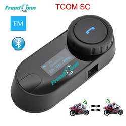 FreedConn Updated TCOM-SC 800M BT Bluetooth Motorcycle Helmet Intercom Interphone Headset with LCD screen + FM Radio Talker