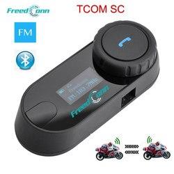 Original FreedConn Updated LCD screen TCOM-SC 800M BT Bluetooth Motorcycle Helmet Intercom Interphone Headset+ FM Radio
