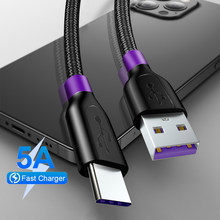 5A USB Type C Cable For Huawei Mate 20 P20 P30 Pro Lite USB C Type-c Cable 2A For Samsung S10 S9 Oneplus 6t USB-C Charger Cable