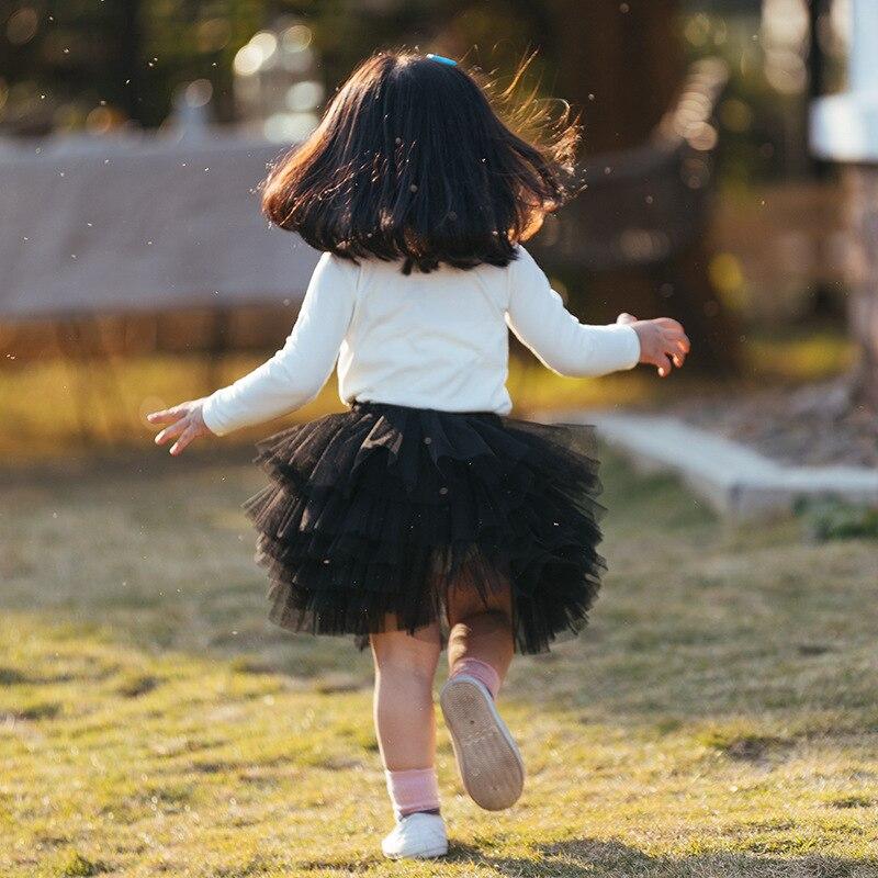 Fashion Girls Tutu Fluffy Skirt Princess Ballet Dance Tutu Mesh Skirt Kids Cake Skirt Cute Girls Clothes DT081 4